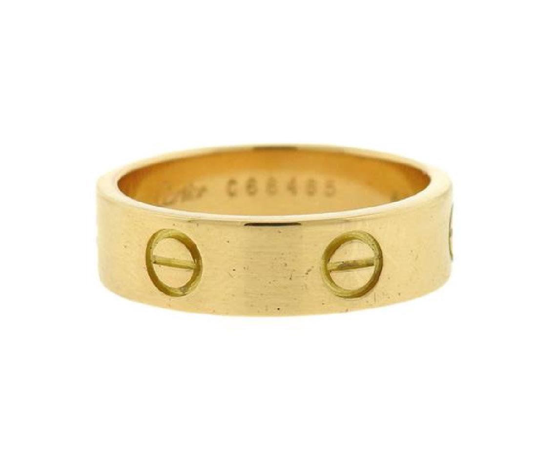 Cartier Love 18k Gold Band Ring Size 60