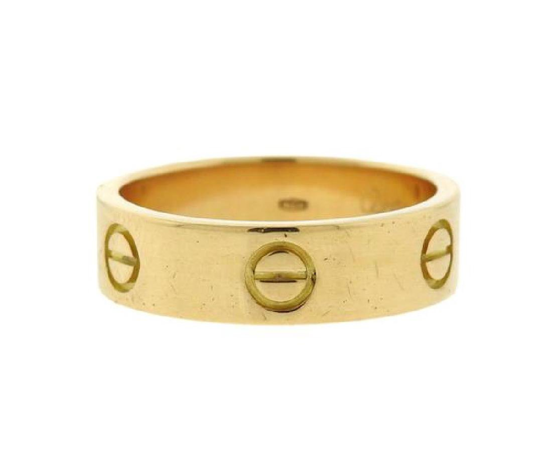Cartier Love 18k Gold Band Ring Size 60 - 3