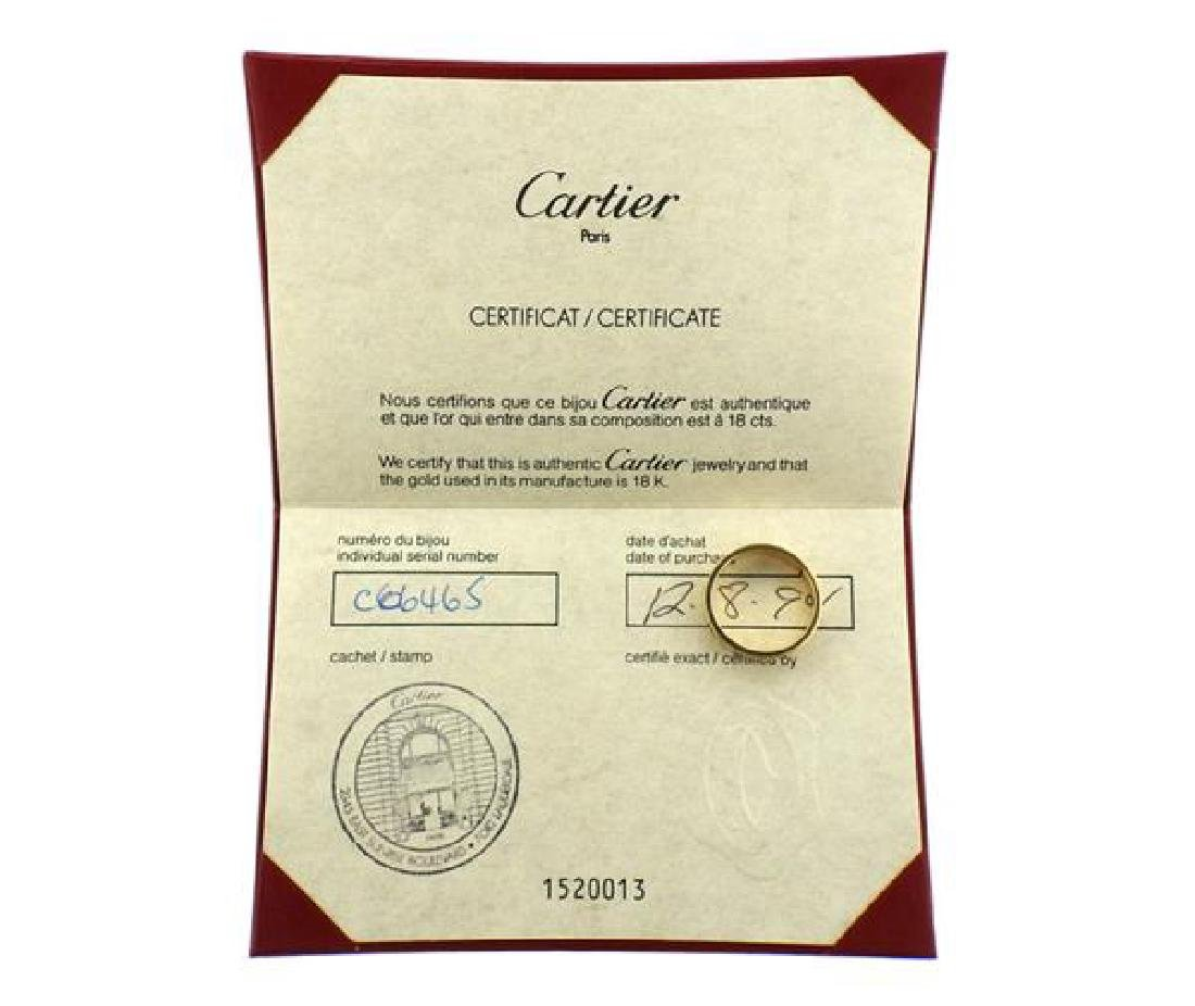 Cartier Love 18k Gold Band Ring Size 60 - 4