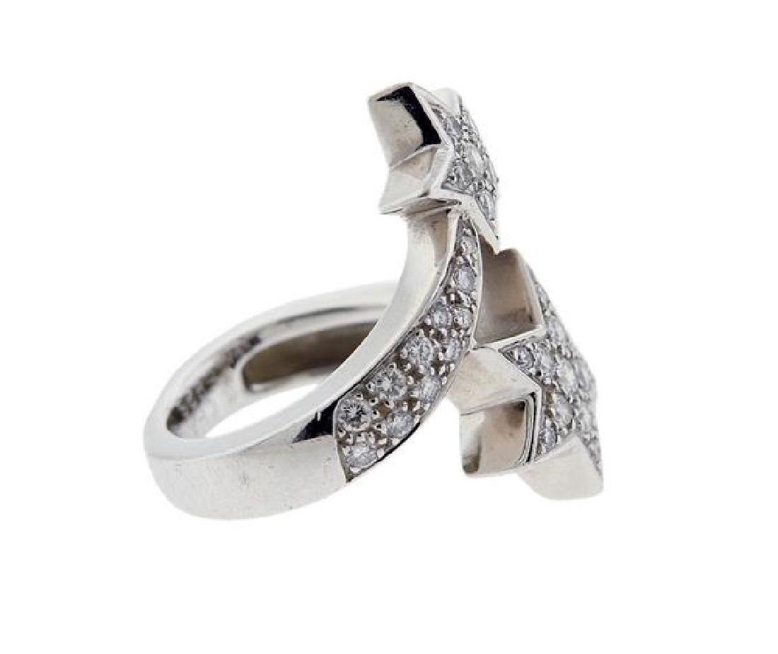 Chanel Comete 18k Gold Diamond Bypass Ring - 4