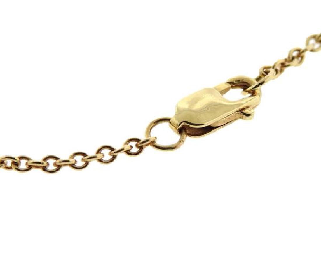 14k Gold Diamond Flower Station Necklace - 4