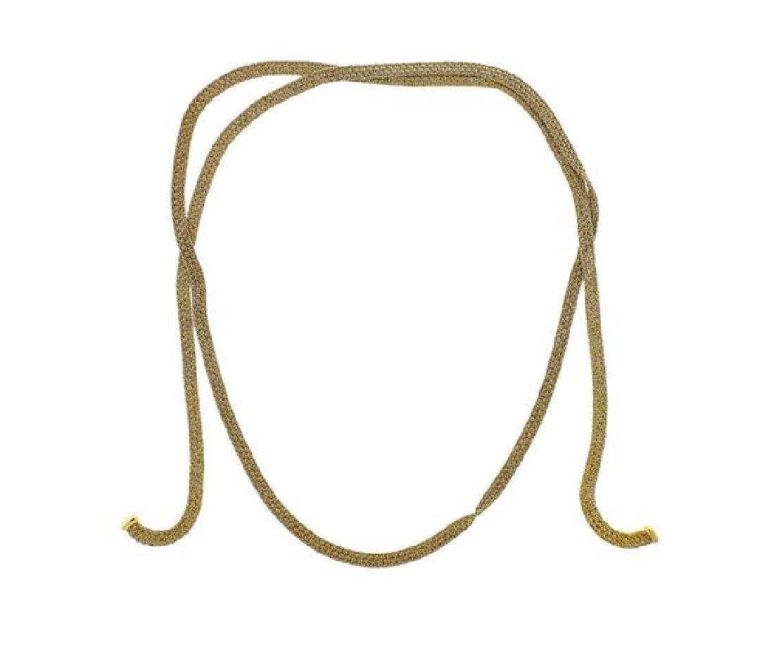 Yuri Ichihashi 18k Gold Hand Woven Rope Necklace