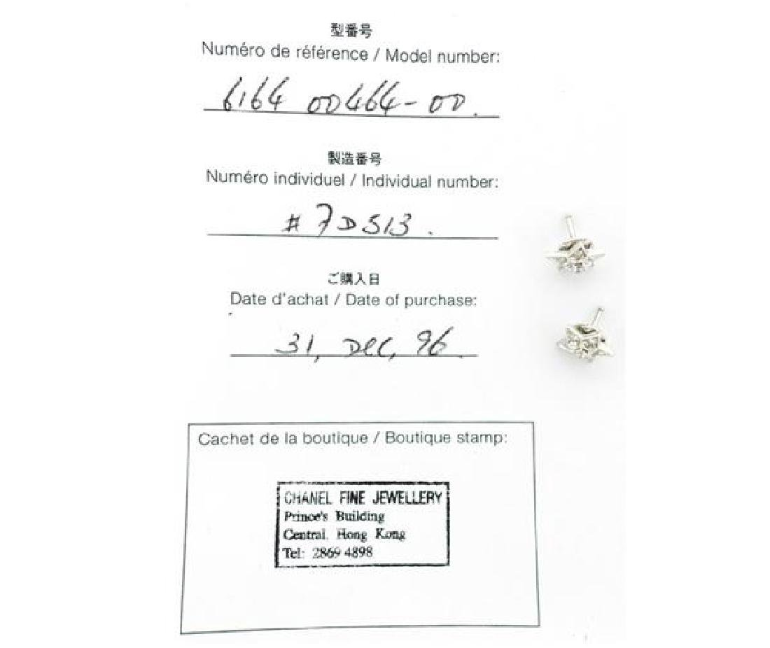 Chanel Comete Star 18k Gold Diamond Earrings - 4
