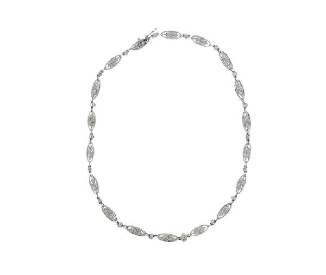 Art Deco Platinum Diamond Necklace