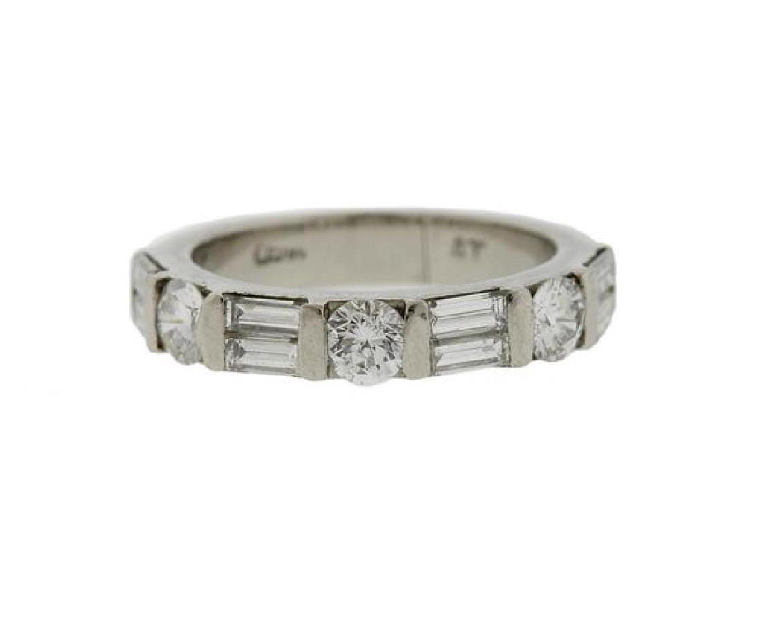 Platinum Diamond Wedding Band Ring