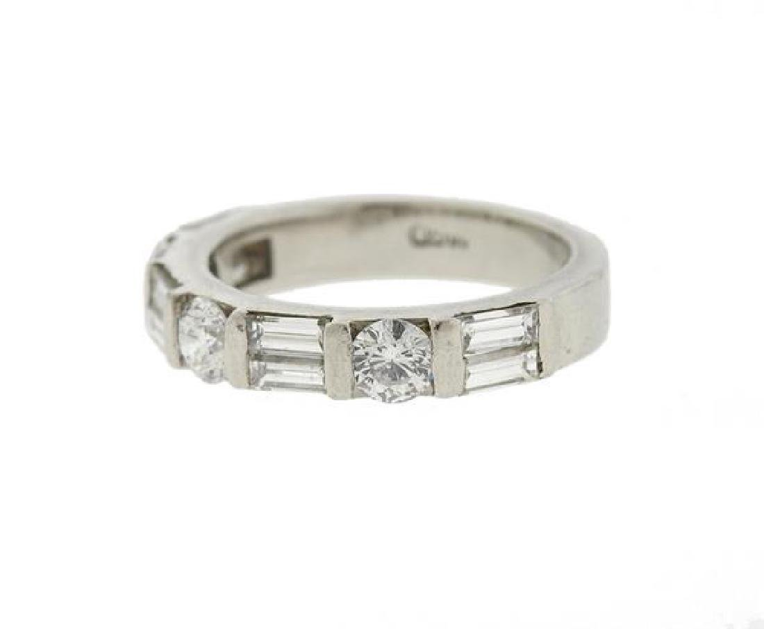 Platinum Diamond Wedding Band Ring - 2