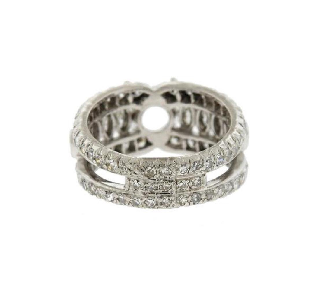 Platinum Diamond Engagement Ring Mounting - 4