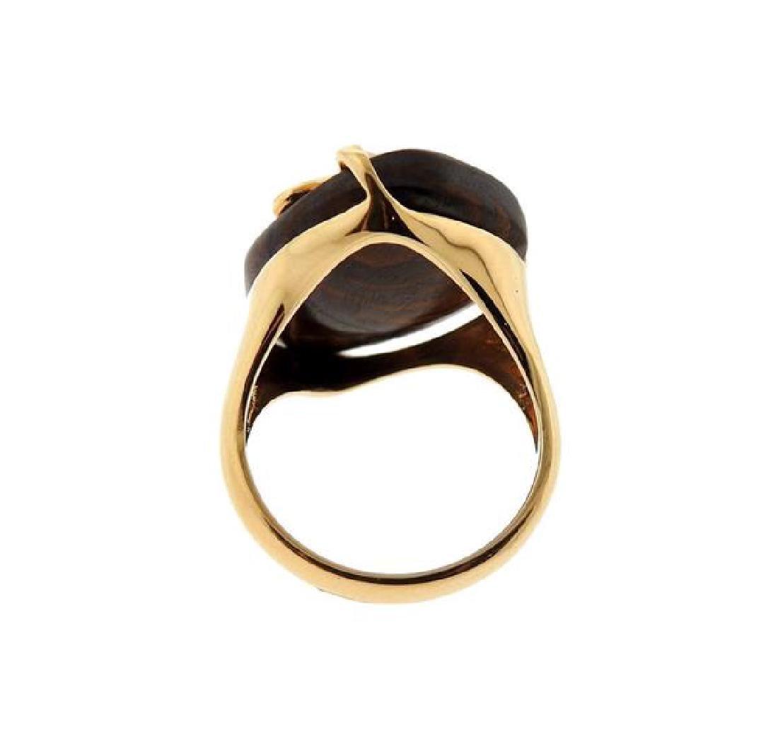 18K Gold Diamond Opal Ring - 3