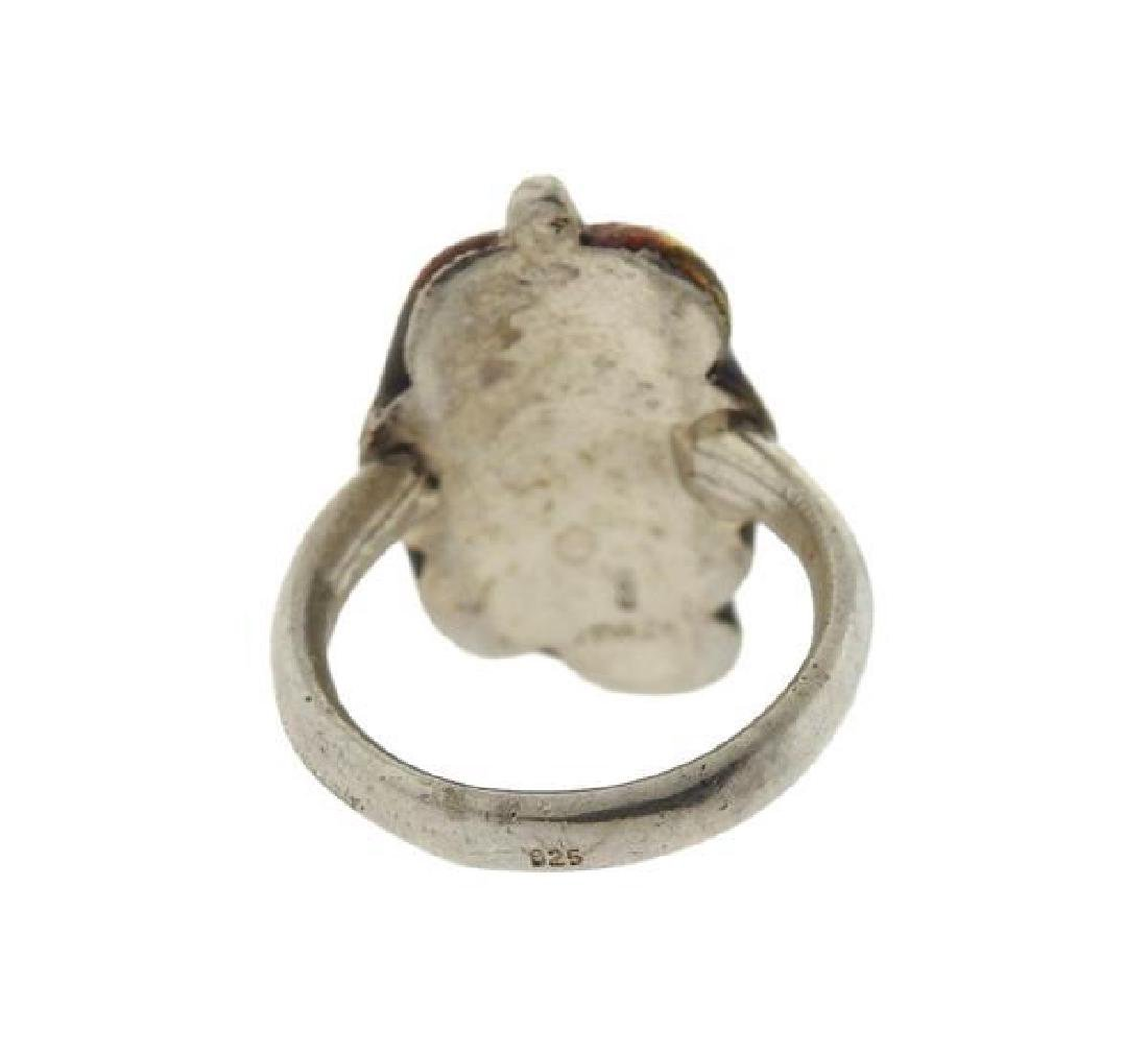 Buccellati  Sterling Silver Enamel Ring - 3