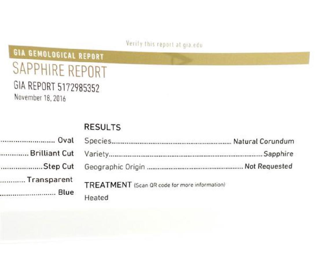 GIA 7.41ct Natural Sapphire Platinum Diamond Ring - 5