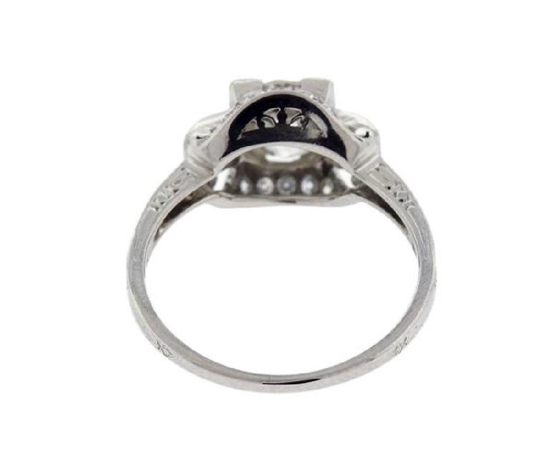 Art Deco Platinum 1.30ct Diamond Engagement Ring - 3