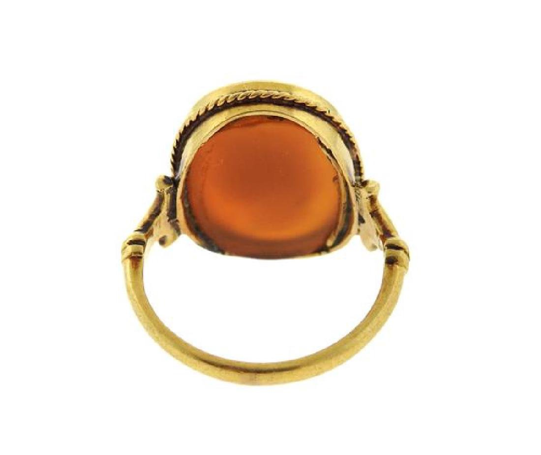 Antique 18k Gold  Cameo Ring - 3