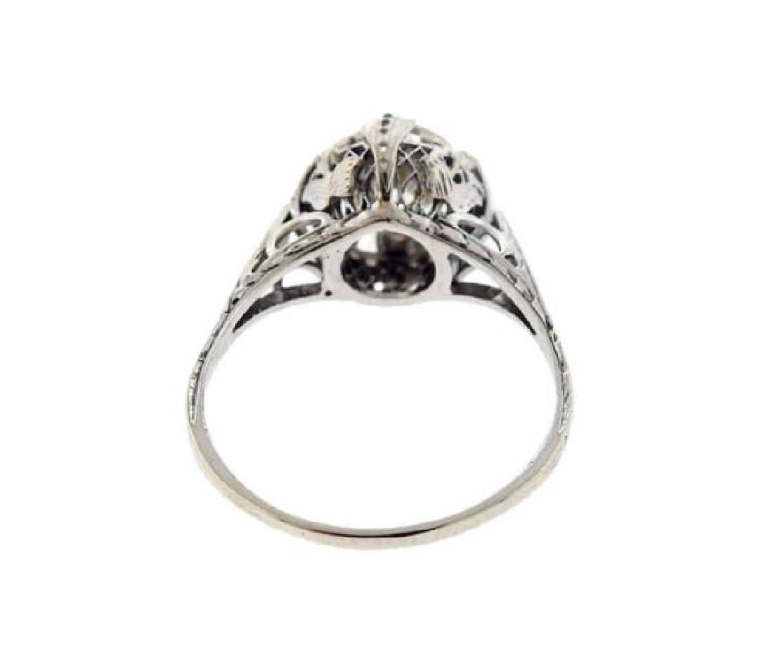 Art Deco Platinum 1.60ct Engagement Diamond Ring - 3