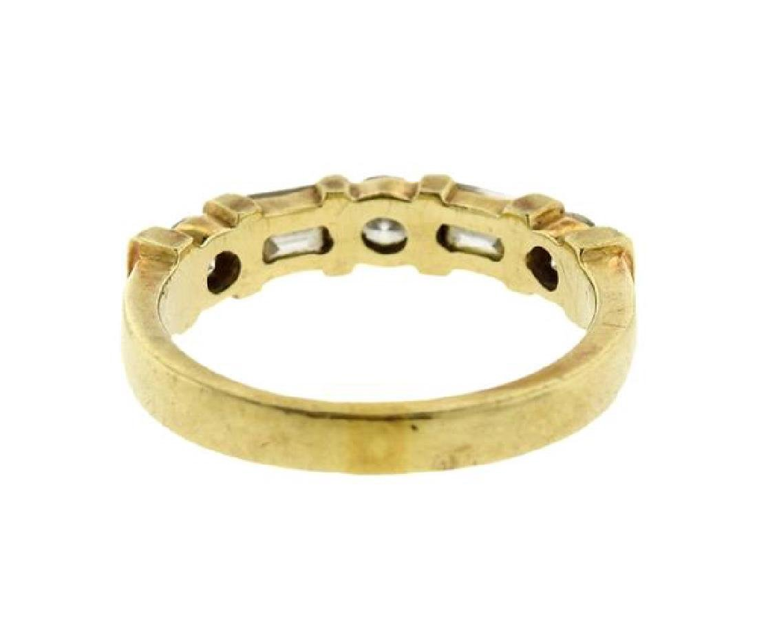 14k Gold Diamond Half Wedding Band Ring - 3