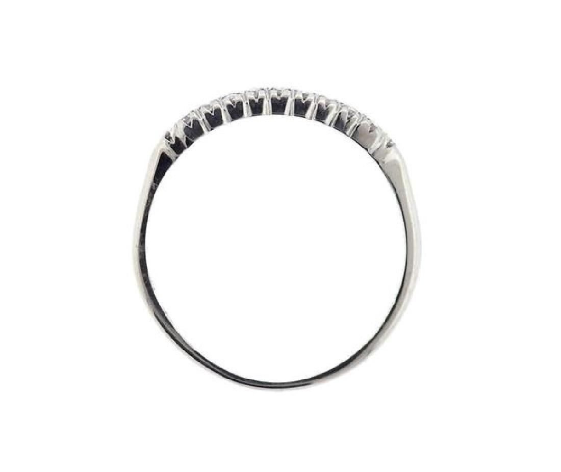 Platinum Diamond Half Wedding Band Ring - 3