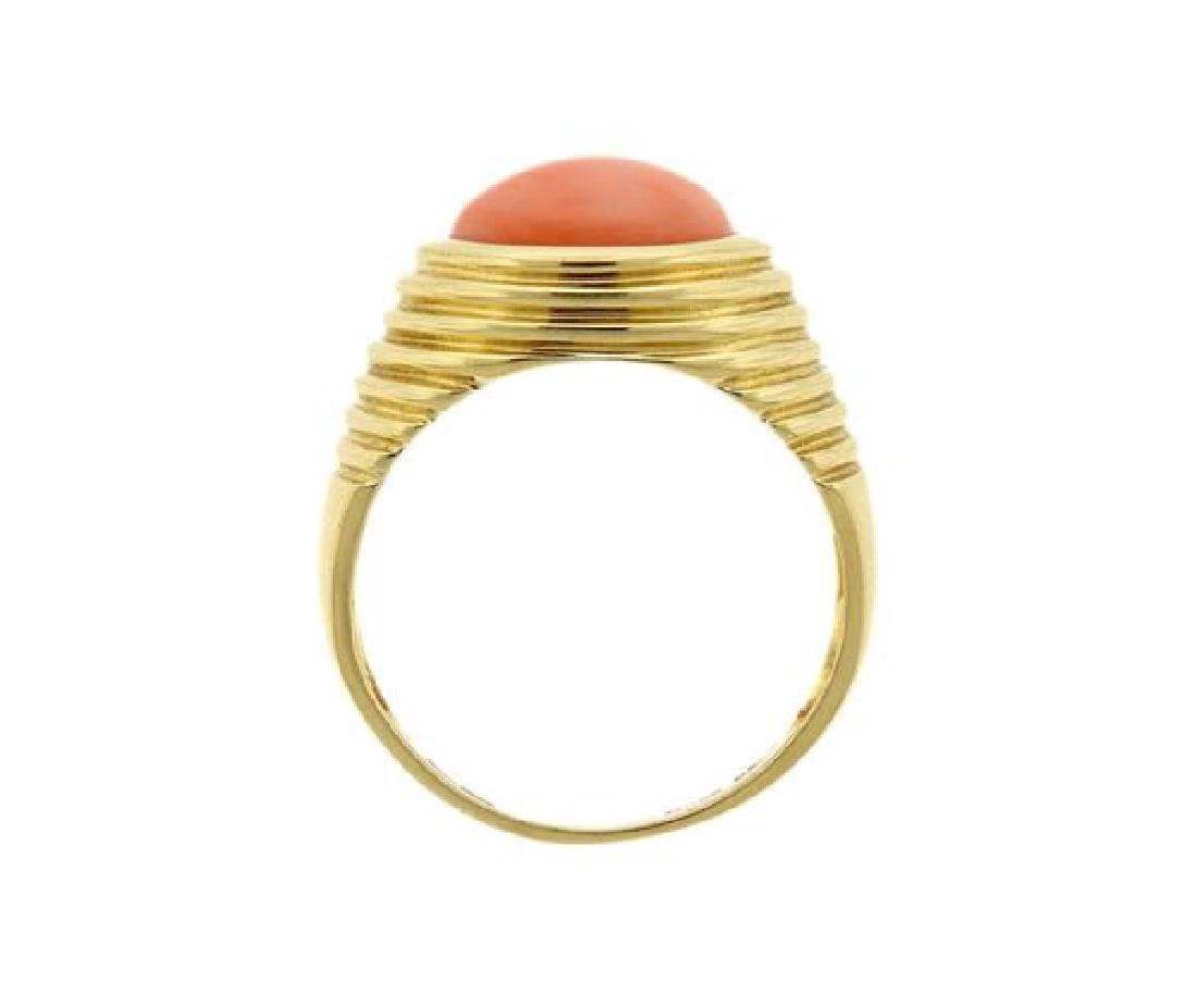 14k Gold Coral Ring - 3