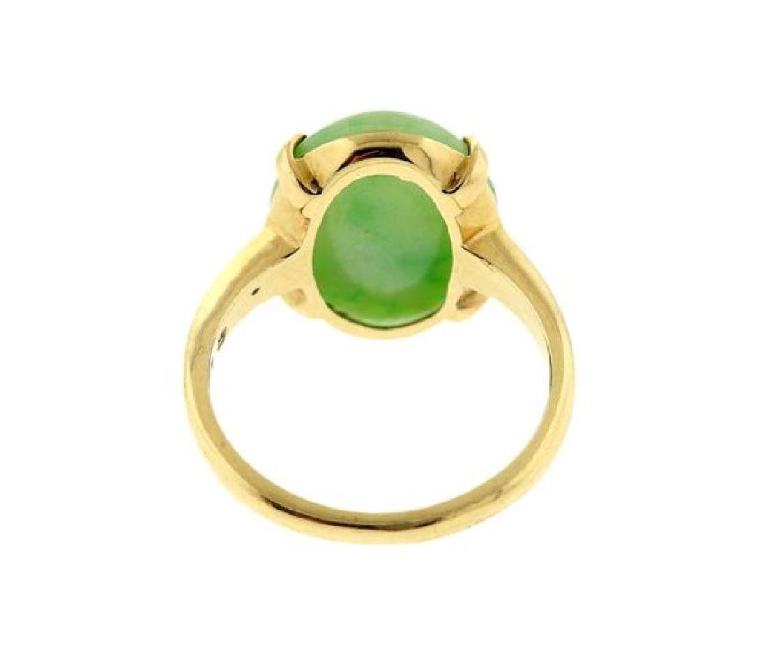 14K Gold Jade Ring - 3