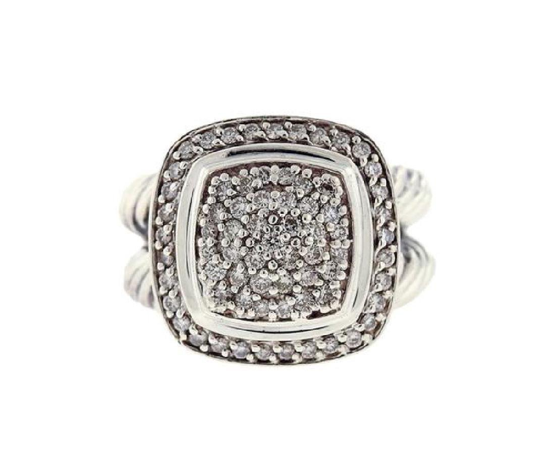 David Yurman Sterling Silver Diamond Albion Ring