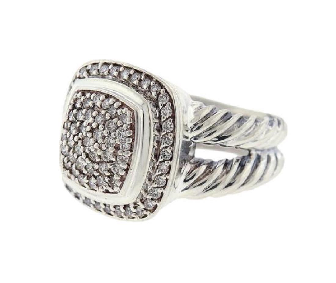 David Yurman Sterling Silver Diamond Albion Ring - 2