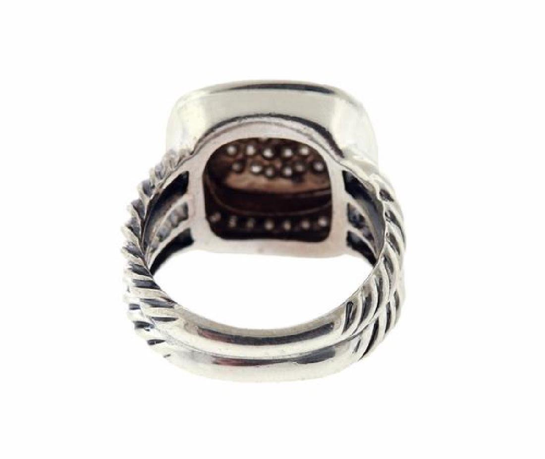 David Yurman Sterling Silver Diamond Albion Ring - 3