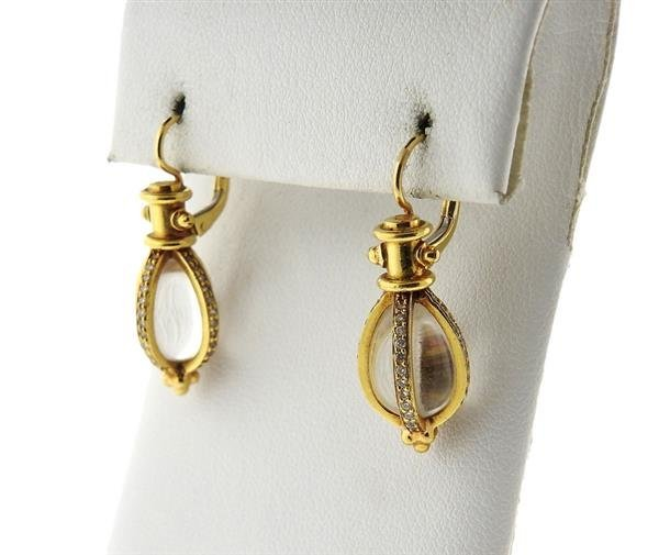 Temple St. Clair 18K Gold Diamond Amulet Earrings - 2