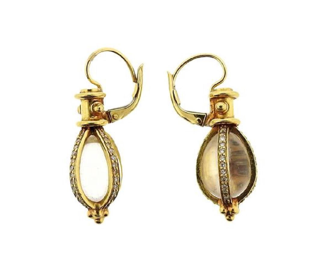 Temple St. Clair 18K Gold Diamond Amulet Earrings - 3