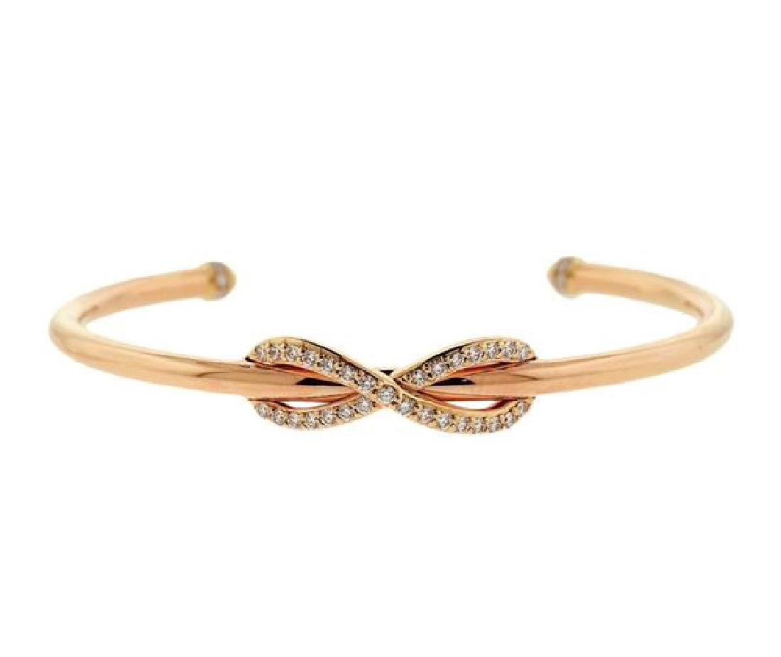 Tiffany & Co 18k Rose Gold Diamond Infinity Cuff