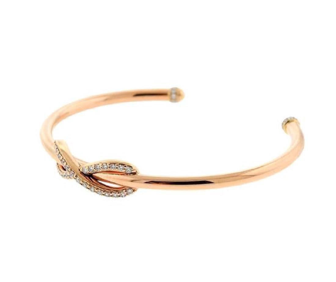 Tiffany & Co 18k Rose Gold Diamond Infinity Cuff - 2