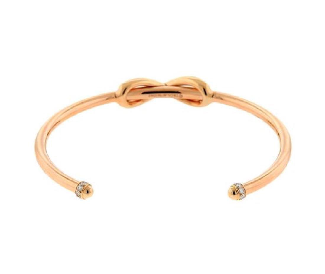 Tiffany & Co 18k Rose Gold Diamond Infinity Cuff - 3