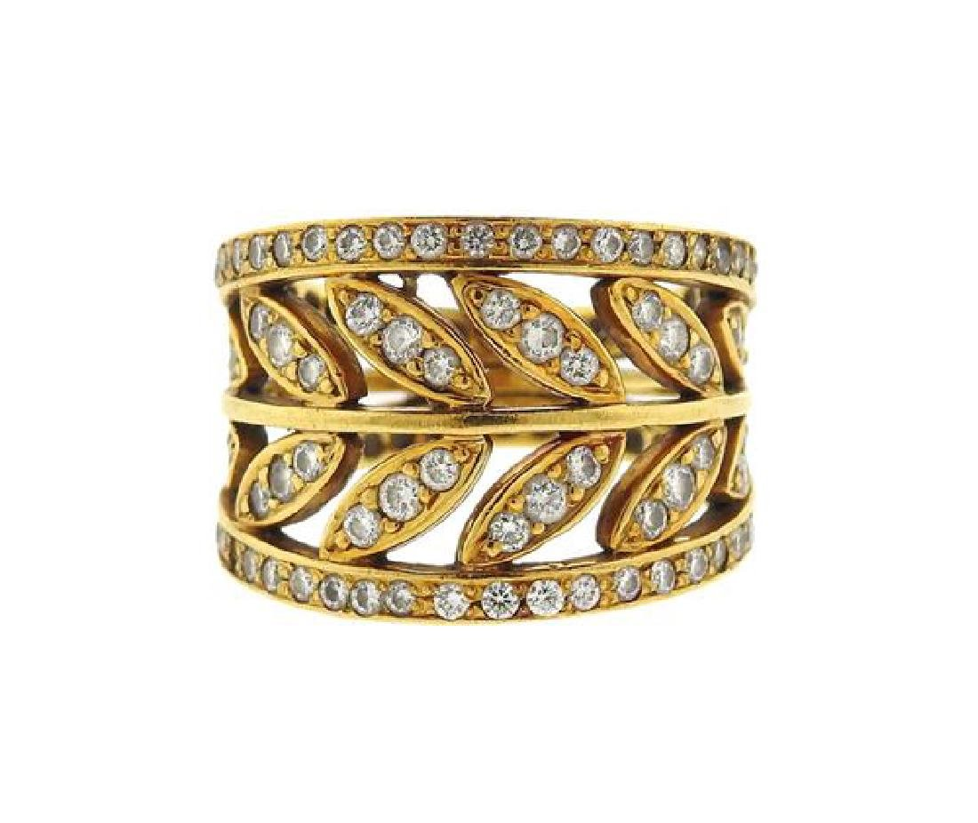 Temple St. Clair Gold Diamond Vine Ring