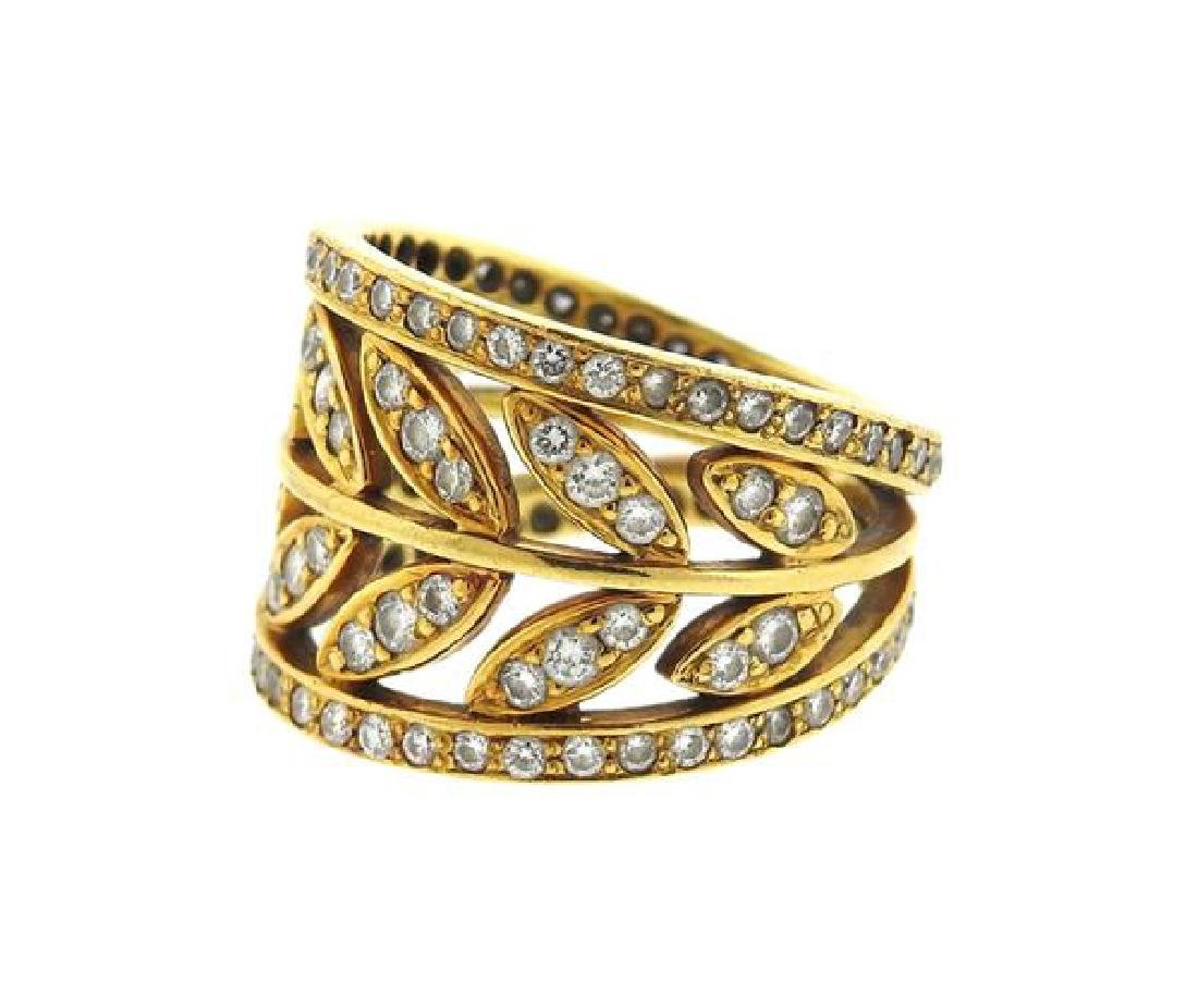 Temple St. Clair Gold Diamond Vine Ring - 2