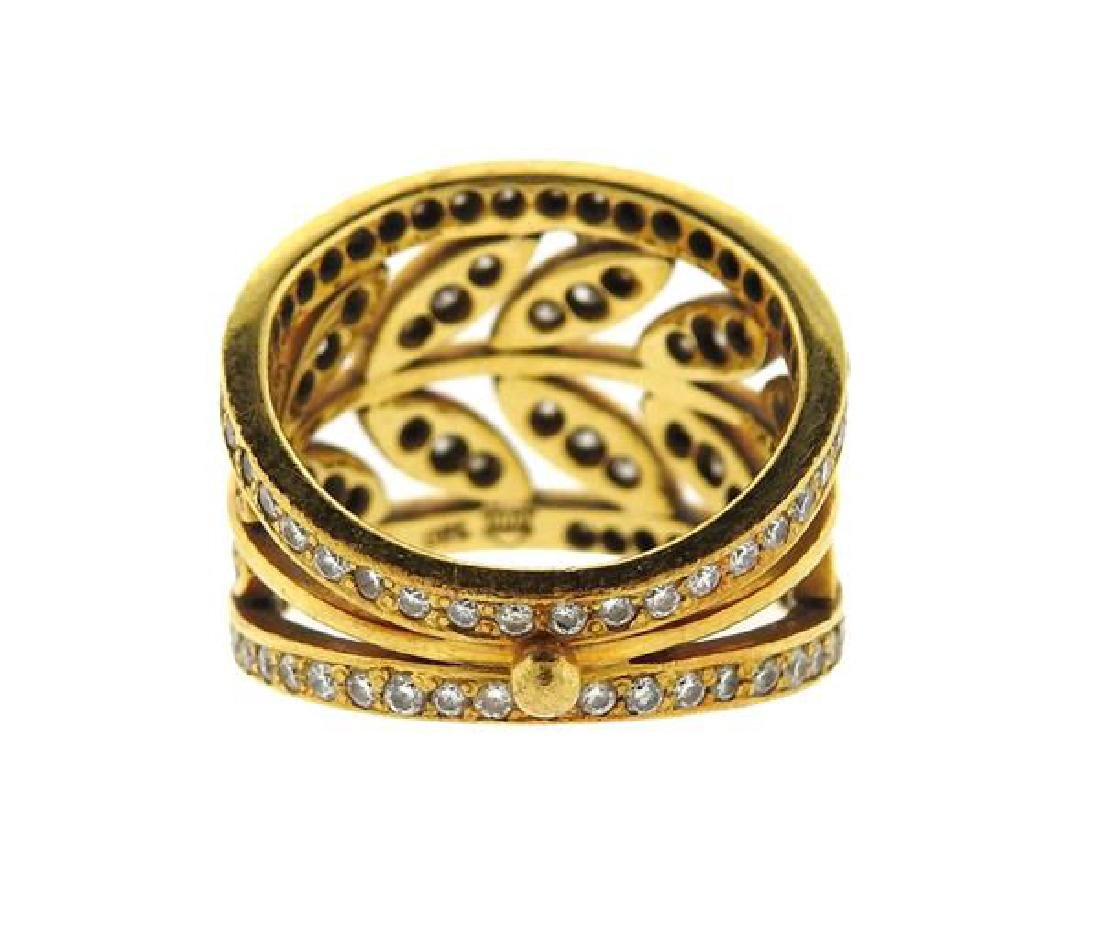 Temple St. Clair Gold Diamond Vine Ring - 3