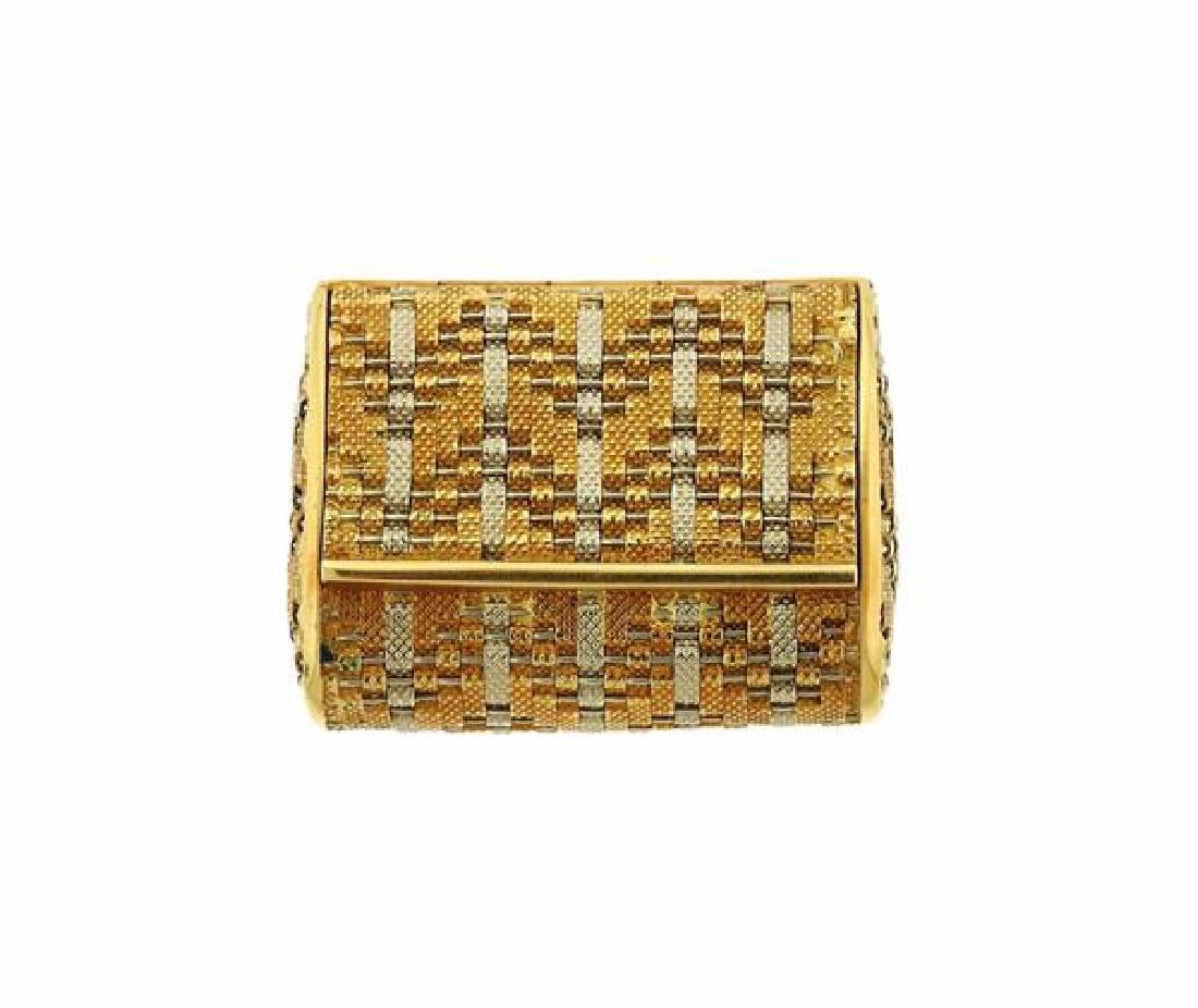 18k Gold Pill Box