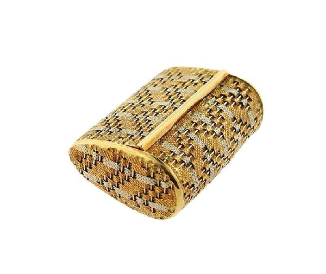18k Gold Pill Box - 2