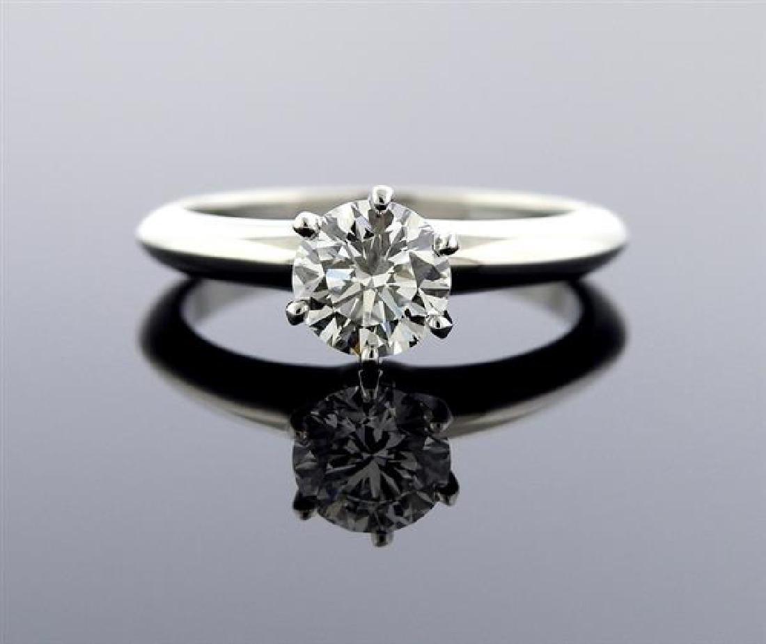 Tiffany & Co 1.03ct H SI1 Diamond Platinum