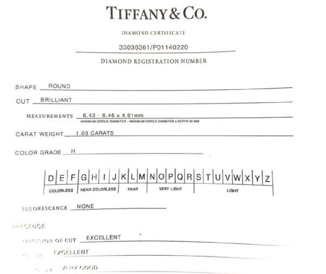 Tiffany & Co 1.03ct H SI1 Diamond Platinum - 5