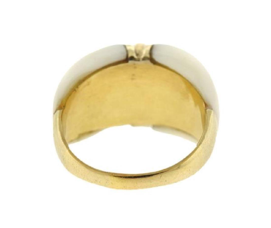 Van Cleef & Arpels 18K Gold Diamond Coral Ring - 4