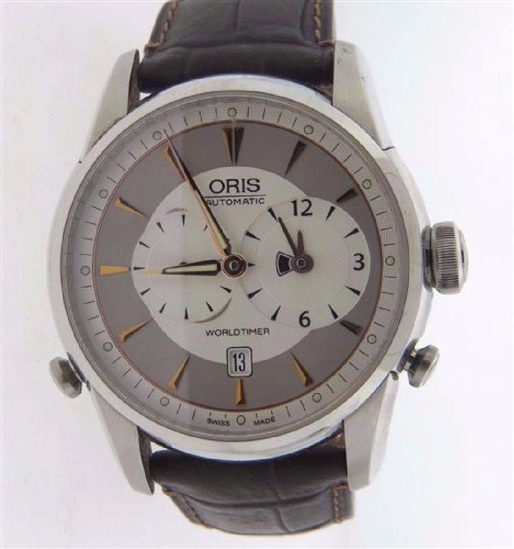 Oris Artelier World Timer GMT Automatic Stainless Steel