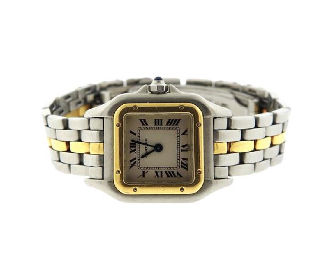 Cartier Panthere 18k Gold Steel Watch
