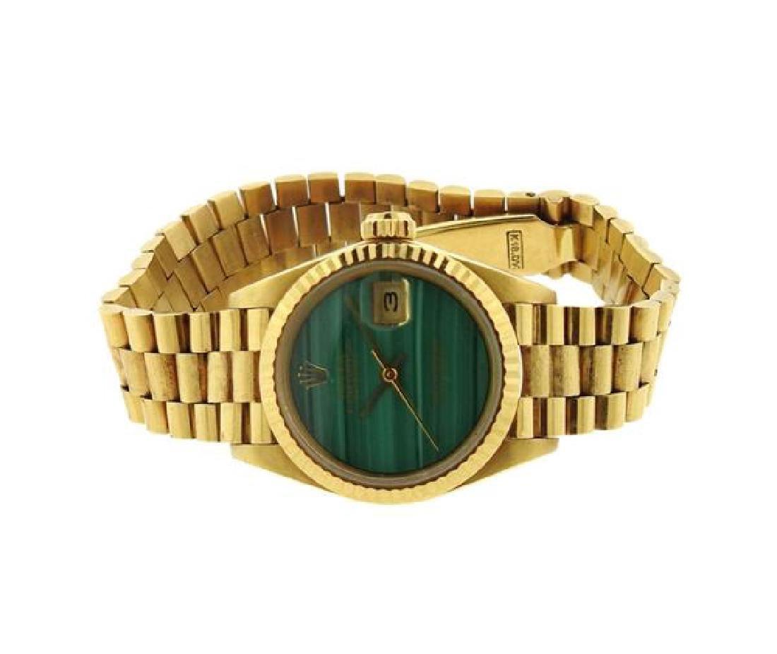Rolex President 18k Gold Malachite Dial Watch 6917 - 2