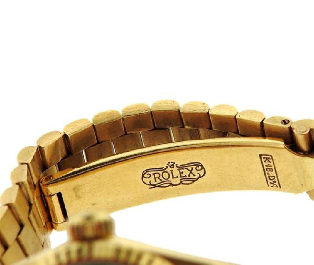 Rolex President 18k Gold Malachite Dial Watch 6917 - 3