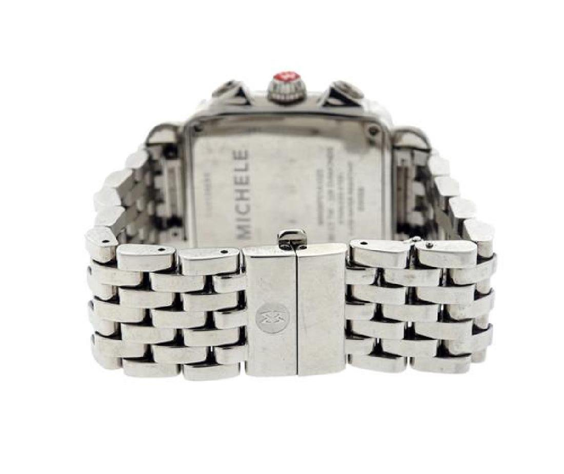 Michele Deco Steel Diamond MOP Chronograph Watch - 3
