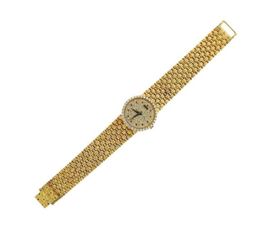 Piaget 18k Gold Diamond Ruby  Manual Wind Watch
