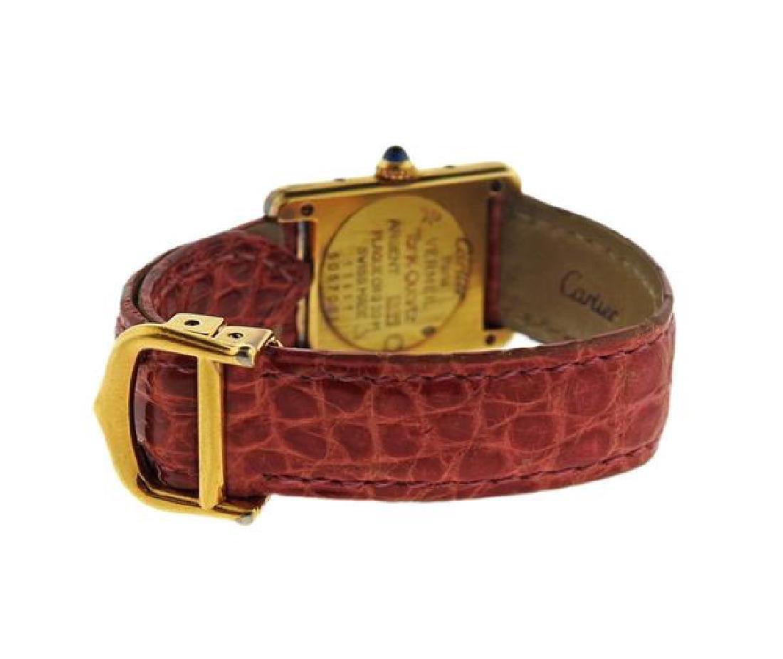 Cartier Tank Vermeil Sterling Silver Quartz Watch - 2