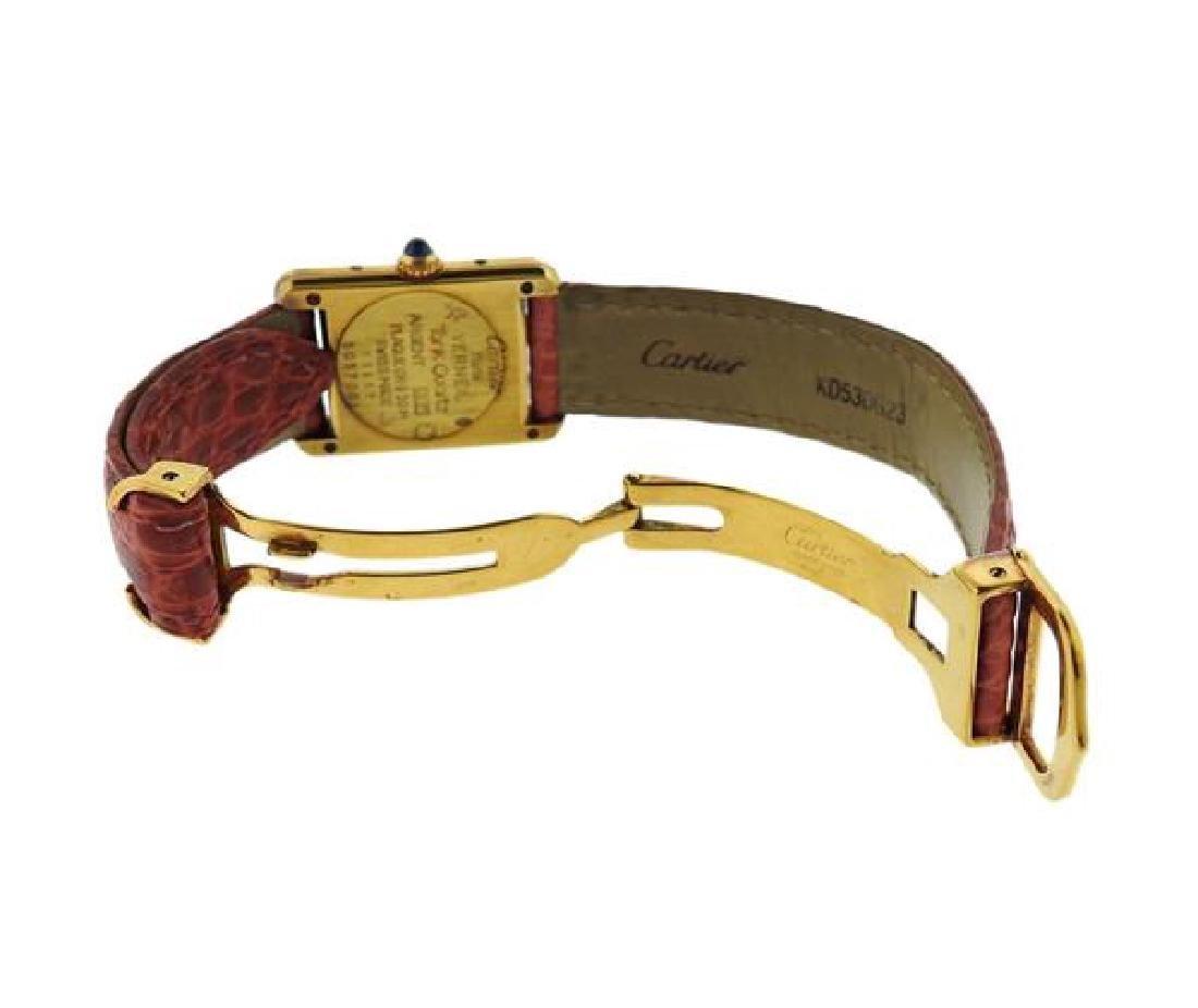 Cartier Tank Vermeil Sterling Silver Quartz Watch - 4