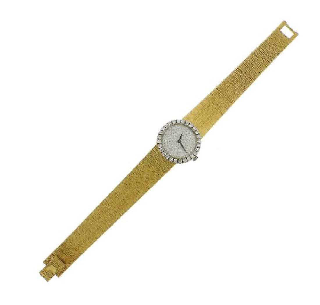 Piaget 18k Gold Diamond Dial Watch