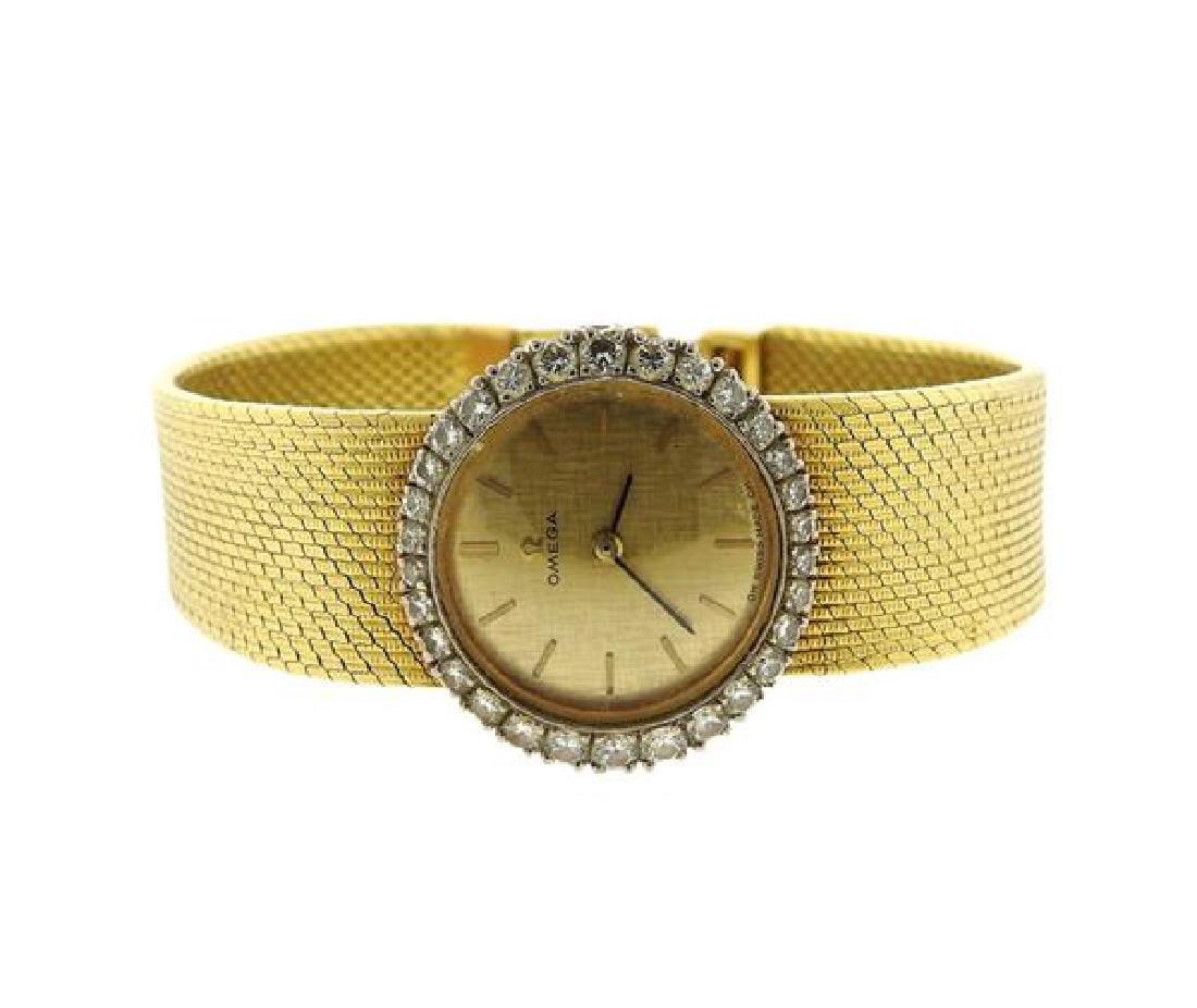 Omega 18k Gold Diamond Manual Wind Lady's Watch