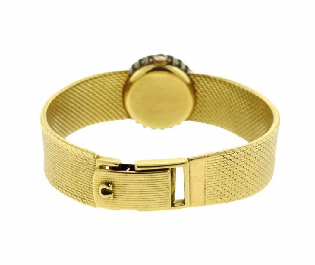 Omega 18k Gold Diamond Manual Wind Lady's Watch - 2