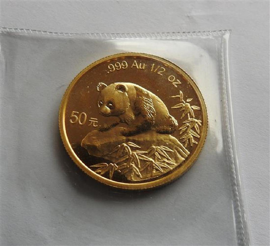 1999 China 0.5 Oz Gold Panda Coin