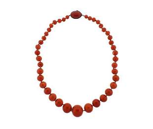 10K Gold Coral Bead Necklace